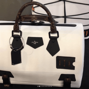 Louis Vuitton White/Monogram Canvas Speedy Bag