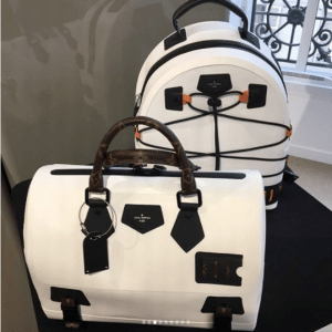 Louis Vuitton White/Monogram Canvas Speedy and Backpack Bags