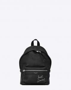 Saint Laurent Black Embroidered Mini Toy City Backpack Bag