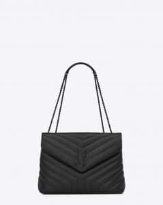 Saint Laurent Black Y Quilted Leather Medium Loulou Chain Bag