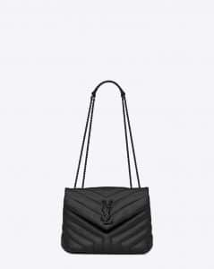 Saint Laurent Black Y Quilted Leather Small Loulou Chain Bag