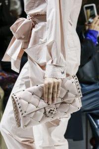 Valentino Beige Rockstud Clutch Bag - Spring 2018