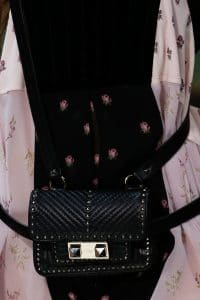 Valentino Black Ziggy Stud Belt Bag - Spring 2018