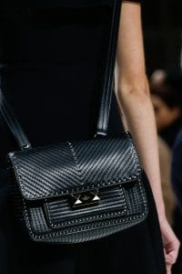Valentino Black Ziggy Stud Crossbody Bag - Spring 2018