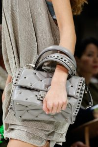 Valentino Gray Rockstud Top Handle Bag - Spring 2018
