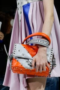 Valentino Gray/Orange Rockstud Top Handle Bag - Spring 2018