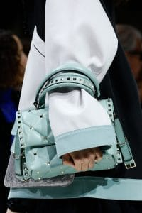 Valentino Light Blue Rockstud Top Handle Bag - Spring 2018