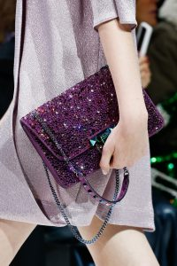 Valentino Purple Embellished Demilune Shoulder Bag 2 - Spring 2018