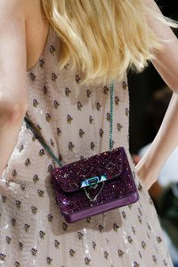 Valentino Purple Embellished Mini Demilune Shoulder Bag - Spring 2018