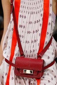 Valentino Red Ziggy Stud Belt Bag - Spring 2018
