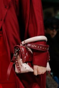 Valentino Red/Pink Rockstud Top Handle Bag - Spring 2018