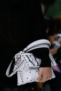 Valentino White Printed Rockstud Top Handle Bag - Spring 2018
