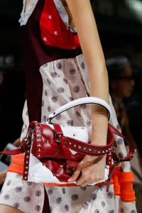 Valentino White/Red Rockstud Top Handle Bag - Spring 2018