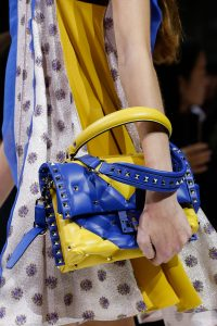 Valentino Yellow/Blue Rockstud Top Handle Bag - Spring 2018