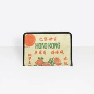 Balenciaga Beige/Green Bazar Hong Kong Mini Pouch Bag