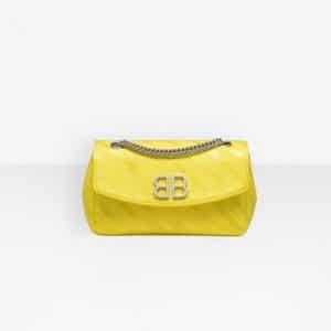 Balenciaga Jaune Soleil Chain Round S Bag