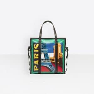 Balenciaga Multicolor Bazar Paris Shopper S Bag