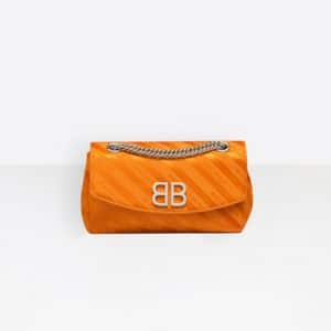 Balenciaga Orange Sanguine Chain Round S Bag
