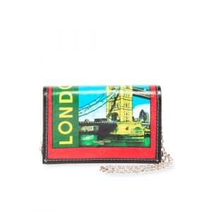 Balenciaga Red/Green Bazar London Shoulder Bag