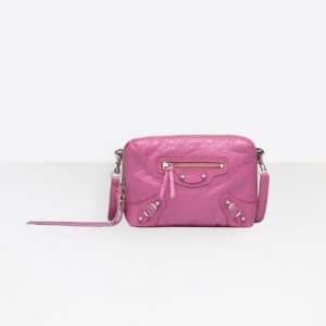 Balenciaga Rose Flamingo Classic Reporter XS Bag