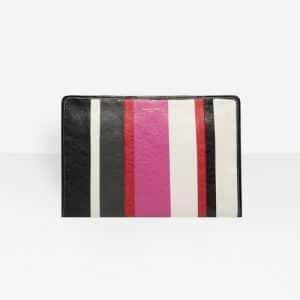 Balenciaga Rose Hortensia Striped Bazar Pouch Bag