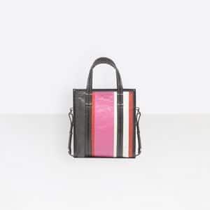 Balenciaga Rose Hortensia Striped Bazar Shopper XS Bag