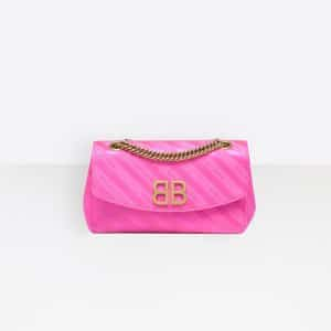 Balenciaga Rose Magenta Chain Round S Bag