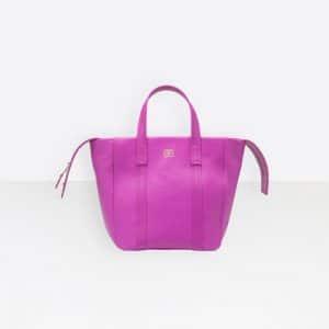 Balenciaga Rose Magenta Laundry Cabas XS Bag