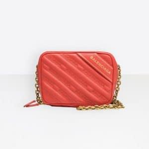 Balenciaga Rouge Tango Blanket Reporter XS Bag