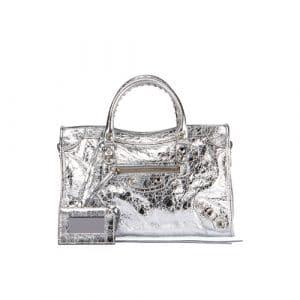 Balenciaga Silver Metallic Classic City S Bag
