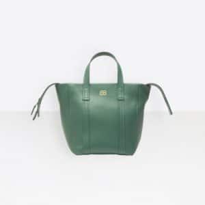 Balenciaga Vert Emeraude Laundry Cabas XS Bag