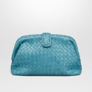 Bottega Veneta Aqua Intrecciato Nappa Top The Lauren 1980 Clutch Bag