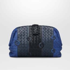 Bottega Veneta Cobalt Blue Nappa The Lauren 1980 Clutch Bag