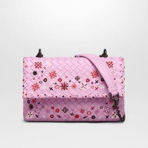 Bottega Veneta Dragee Intrecciato Meadow Flower Baby Olimpia Bag
