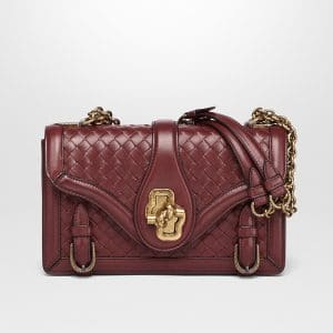 Bottega Veneta Gigolo Red Intrecciato Nappa Top City Knot Bag