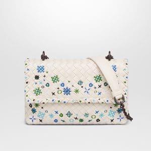 Bottega Veneta Mist Intrecciato Meadow Flower Baby Olimpia Bag
