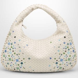 Bottega Veneta Mist Intrecciato Meadow Flower Medium Veneta Bag