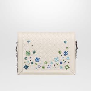Bottega Veneta Mist Intrecciato Meadow Flower Mini Montebello Bag
