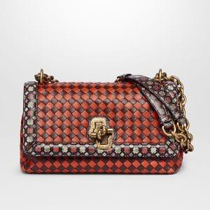 Bottega Veneta Multicolor Intrecciato Nappa Olimpia Knot Bag