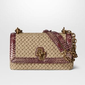 Bottega Veneta Naturale Intrecciato Knit Olimpia Knot Bag