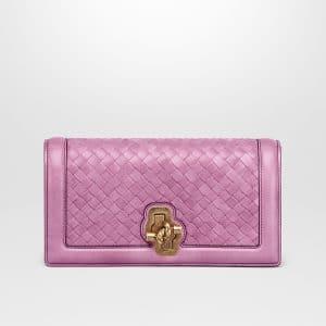 Bottega Veneta Twilight Intrecciato Nappa Top Knot Clutch Bag