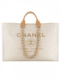 Chanel Beige Deauville Large Shopping Bag
