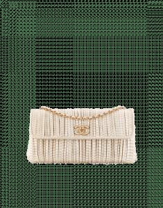Chanel Beige Elaphe Clutch Bag