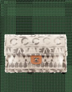 Chanel Beige Iliad Clutch Bag