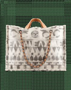 Chanel Beige Iliad Small Shopping Bag