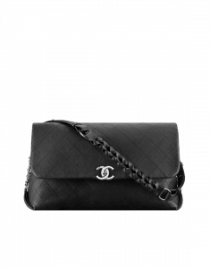 Chanel Black Braided with Style Large Flap Bag