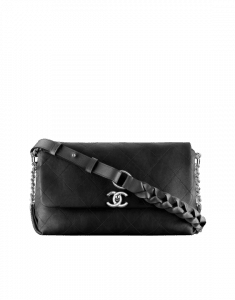 Chanel Black Braided with Style Small Flap Bag