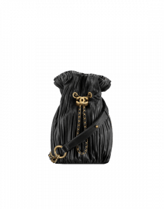 Chanel Black Coco Pleats Small Backpack Bag