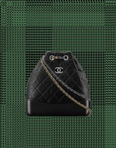 Chanel Black Gabrielle Backpack Bag