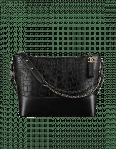 Chanel Black Gabrielle Medium Hobo Bag